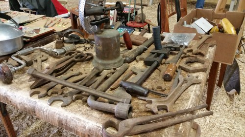 Rusty Vintage Tools and Wrenches at the Flea Market