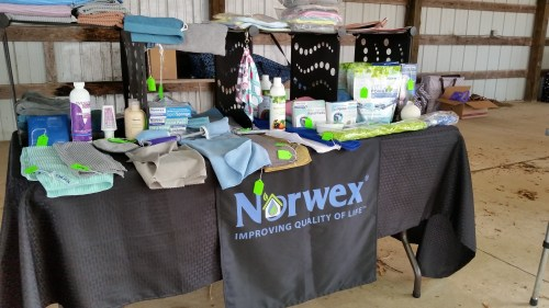 Norwex Product Booth at the Flea Market