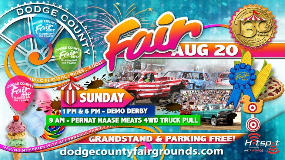 2017 Dodge County Fair Sunday August 20