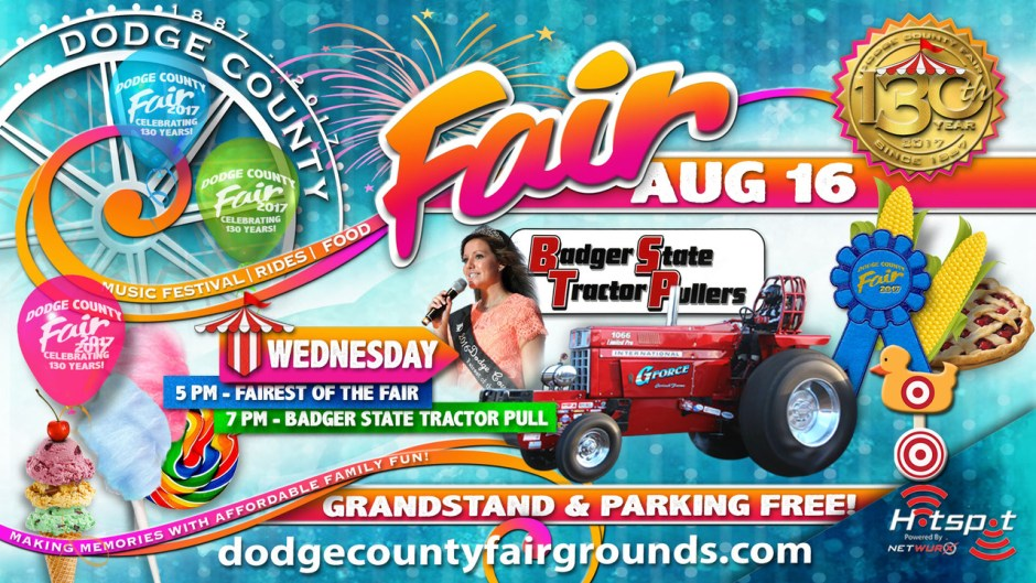 2017 Dodge County Fair Wednesday August 16
