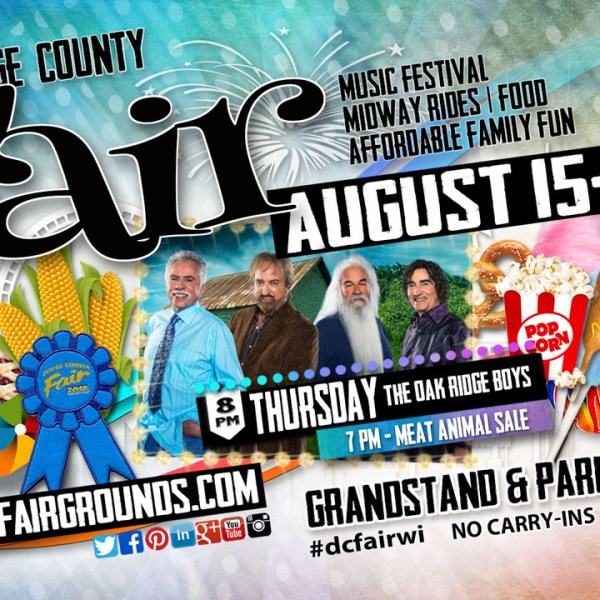 The Oak Ridge Boys to perform Thursday of the Fair
