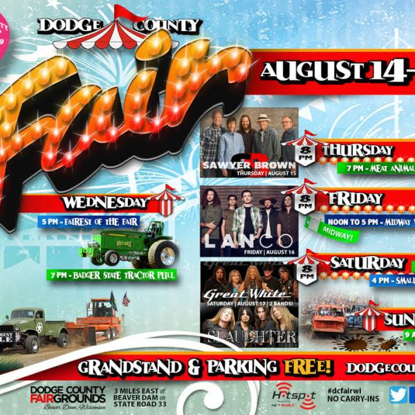Five days of diverse activities and concerts at the 2019 Dodge County Fair