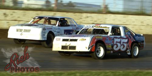 Jesse Krahn and James Fletcher at Dodge County Speedway