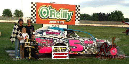 Brian Bruechert from Kewaunee won the IMCA Sport Mod Feature