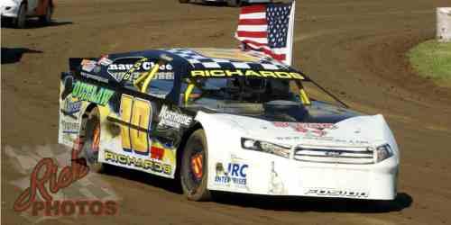 Jeff Richards Parade Lap at Dodge County Fairgrounds Speedway