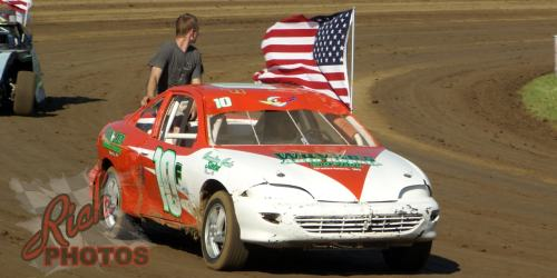 Mitch Fairbank Parade Lap at Dodge County Fairgrounds Speedway