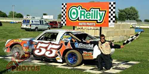 Jesse Krahn Heat Race Win at Fairgrounds Speedway