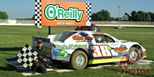 Aaron Streblow Heat Race Win at Fairgrounds Speedway