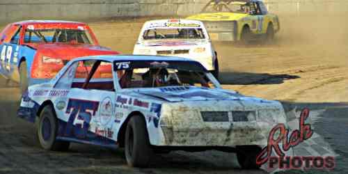 James Fletcher in turn four at Fairgrounds Speedway
