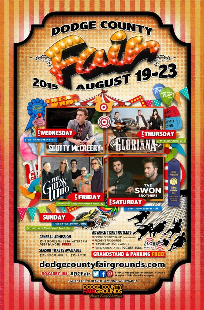 2015 Dodge County Fair Advertising Poster
