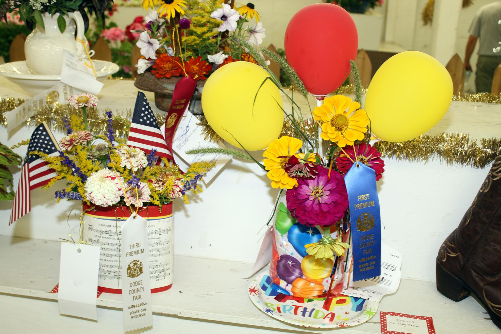 Dodge County Fair Open Class Flower Display