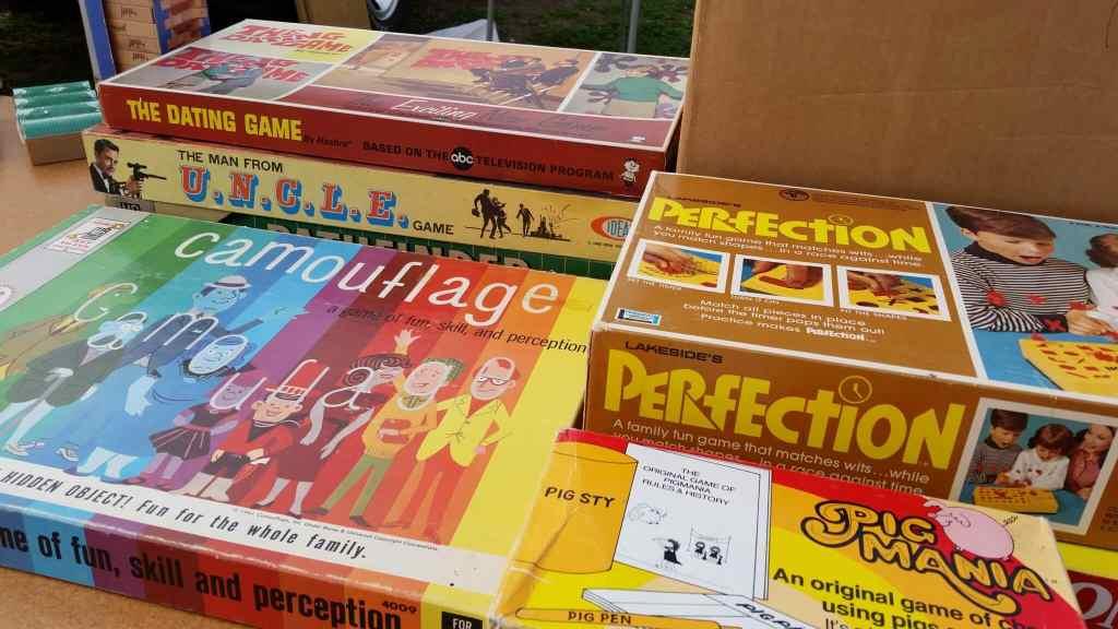Flea Market collectible vintage board games