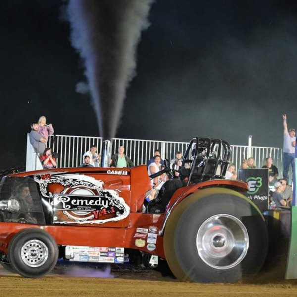 Badger State Tractor Pullers open the Dodge County Fair