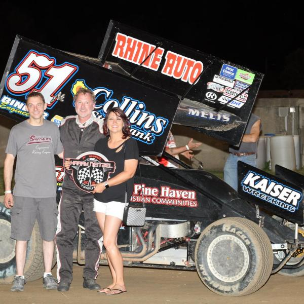 Melis claims MSA Harry Neitzel Tribute hardware