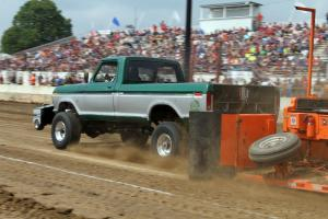Two Tone Chevy Badger Truck Pulling Wisconsin
