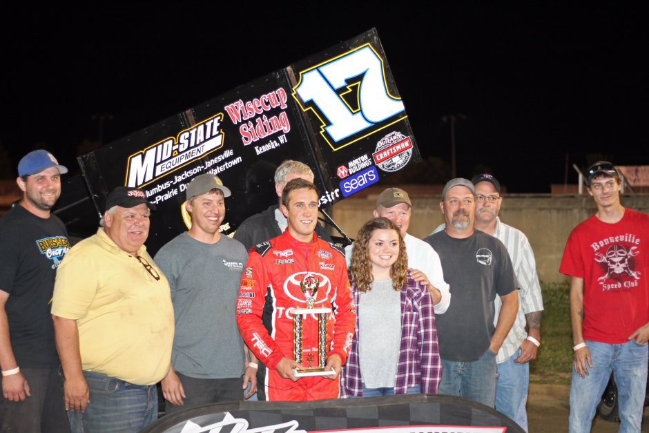 Carson Macedo wins IRA Outlaw Sprint Car Feature