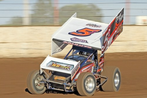 Jeremy Sherm Schultz in the 5J IRA Outlaw Sprint Car