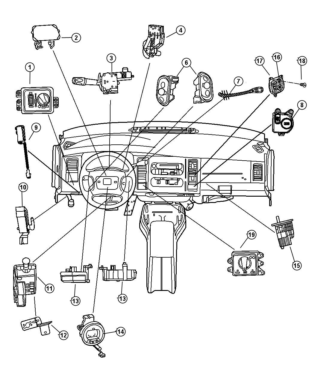 Dodge Ram Clockspring Control Speed Steering