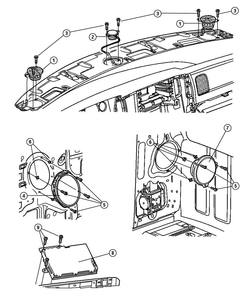 Dodge Ram Speaker Door Front Infinity