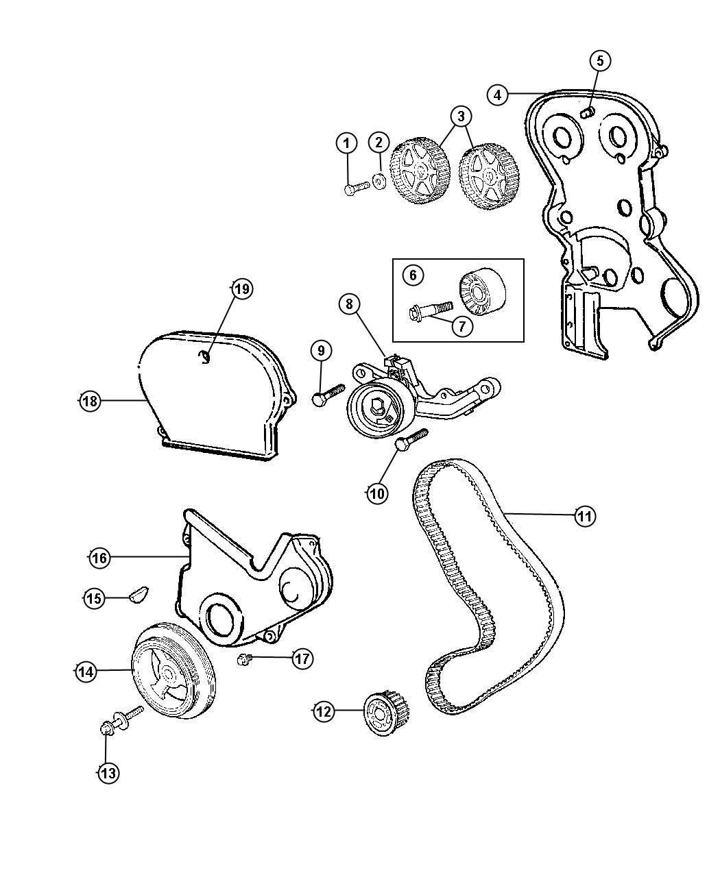 Dodge Neon Cover Timing Belt Timing Case Inner Inner
