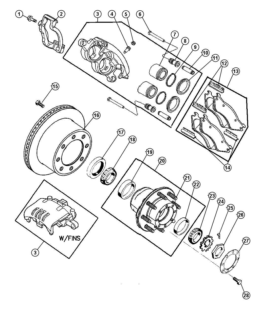 Dodge Ram Rotor Brake Rear Right Or Left Axle