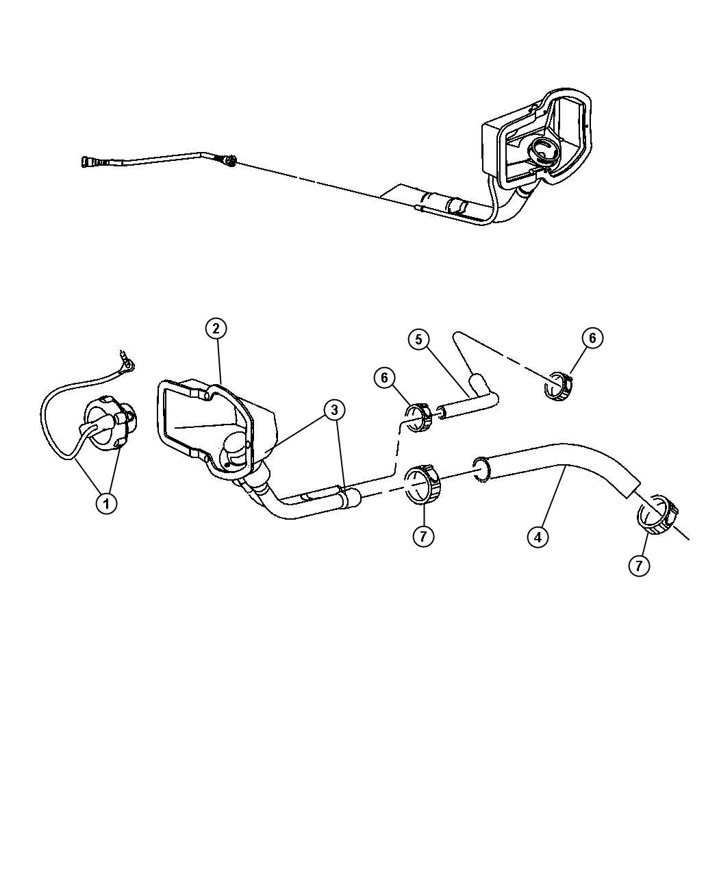 Dodge Ram Hose Fuel Filler Gallon Tank Vent