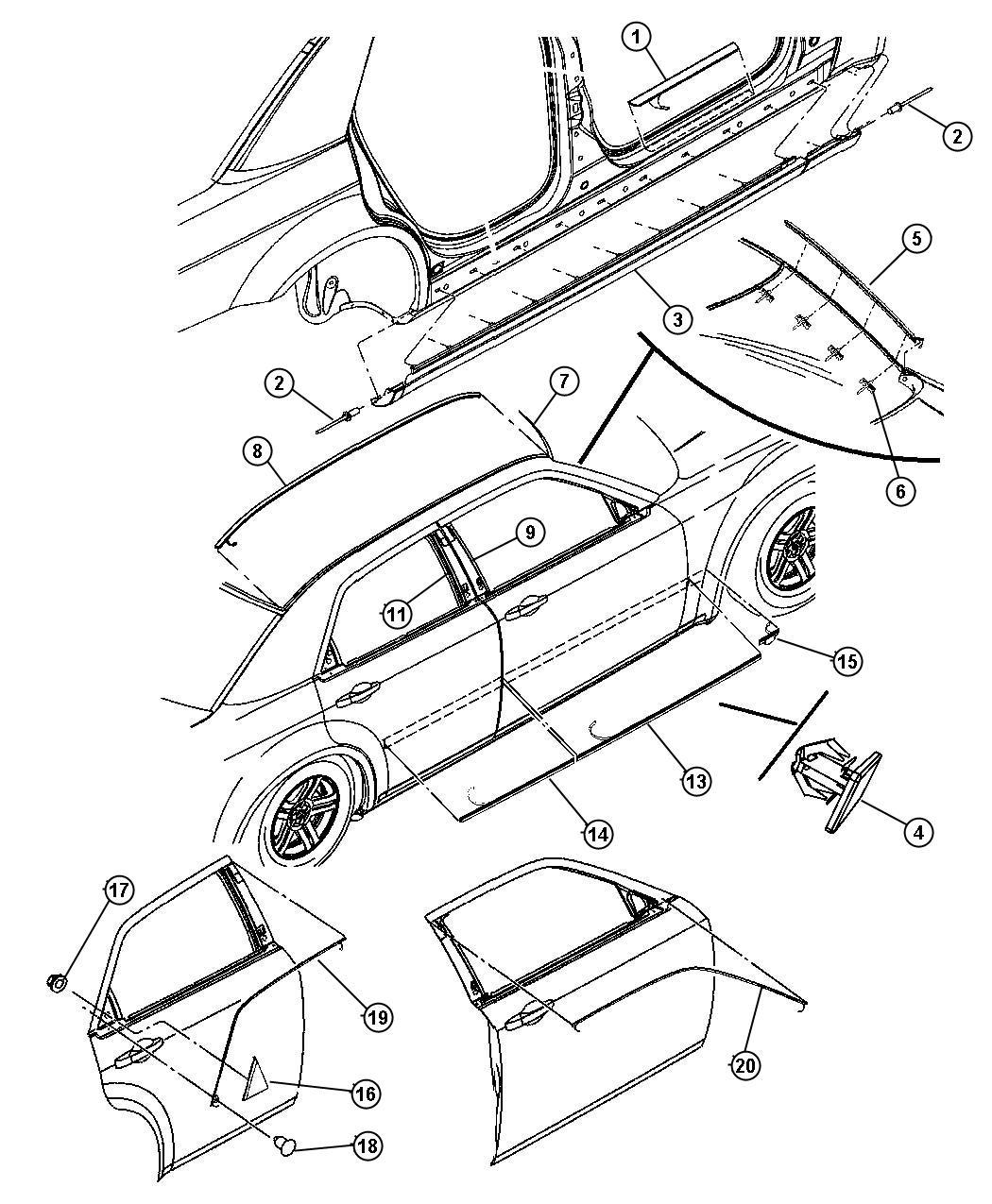 Chrysler 300c Vehicle Diagram