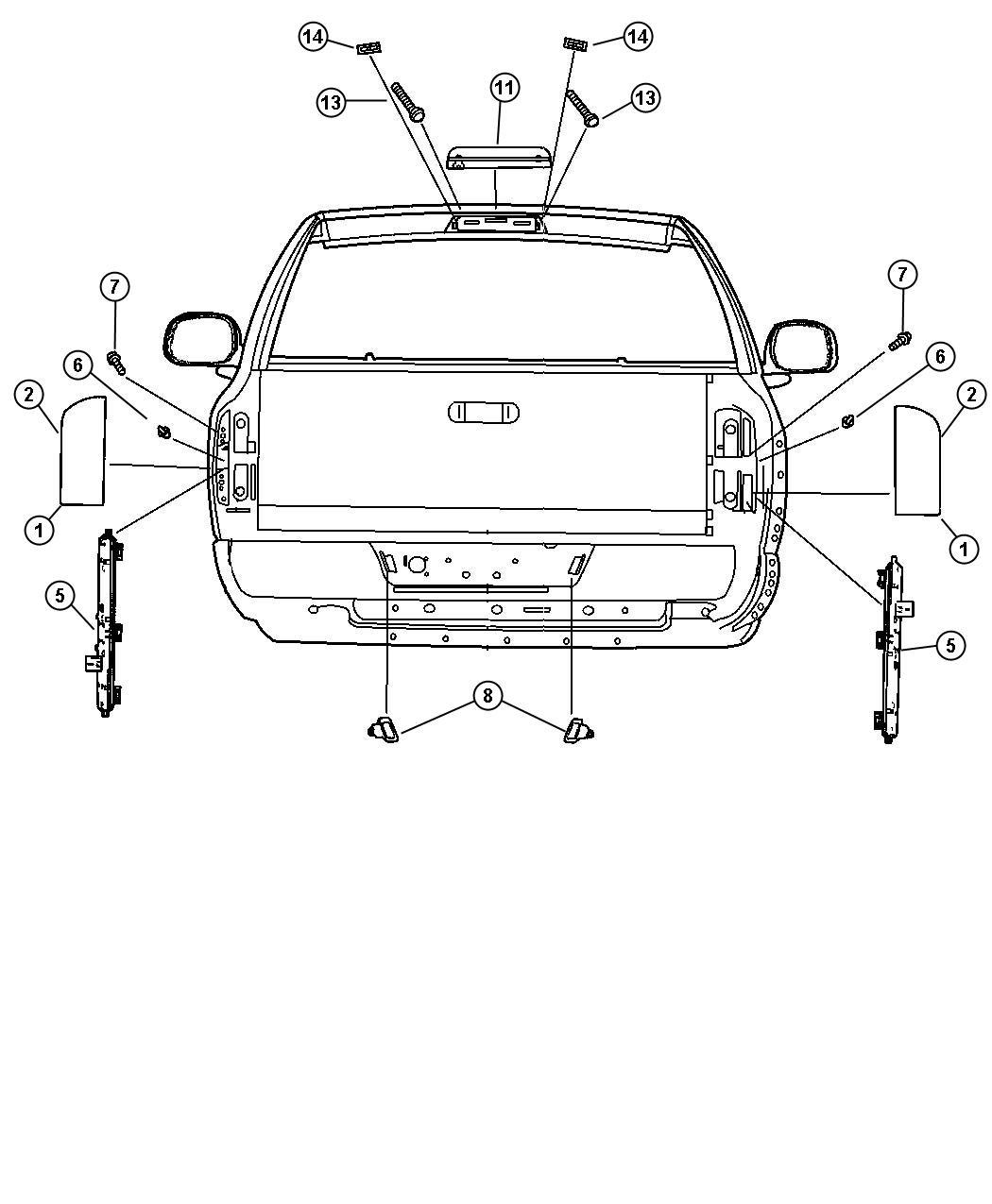 Dodge Ram Lamp License Plate Left Right Rear