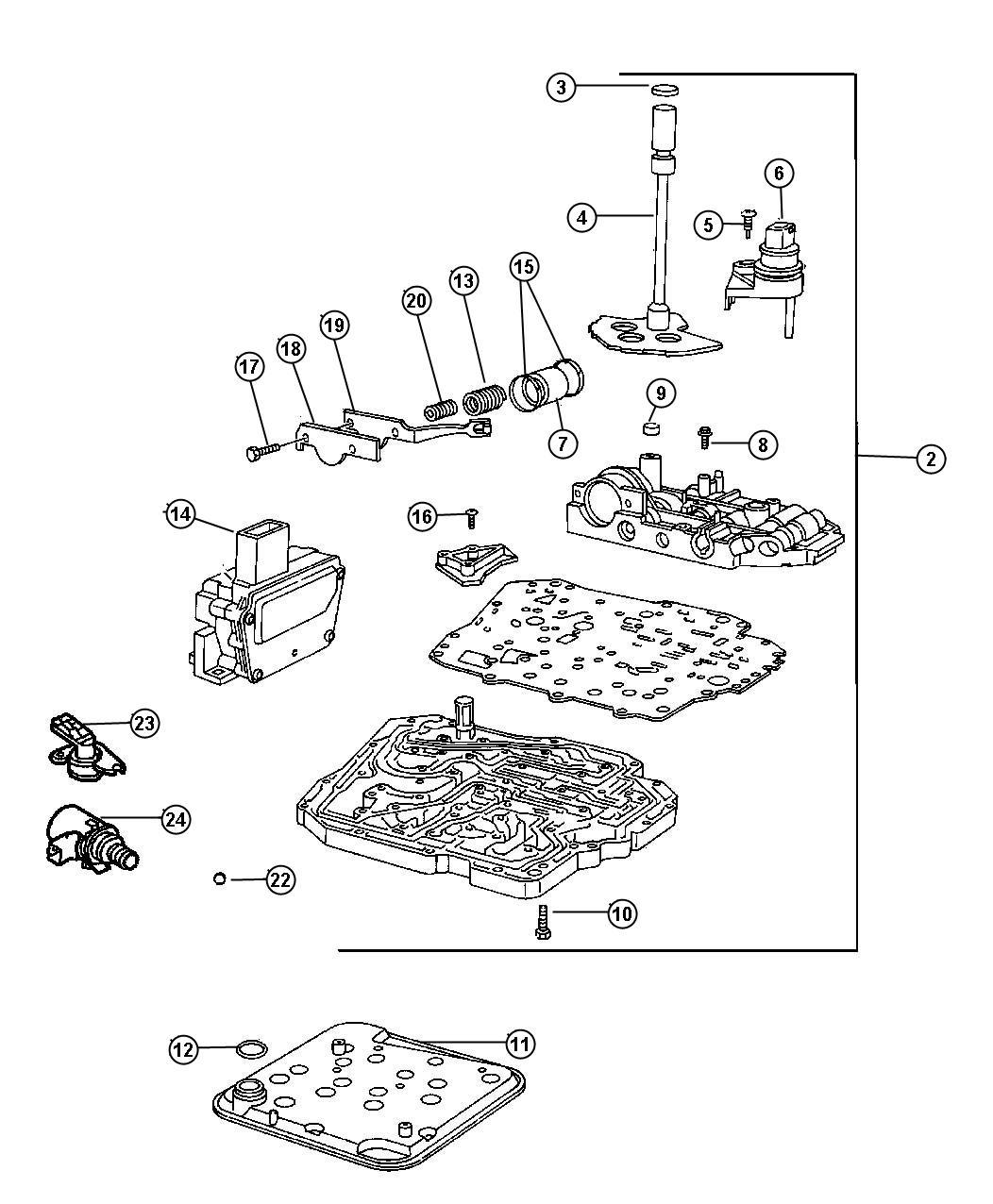 Dodge Charger Solenoid Solenoid Package Transmission