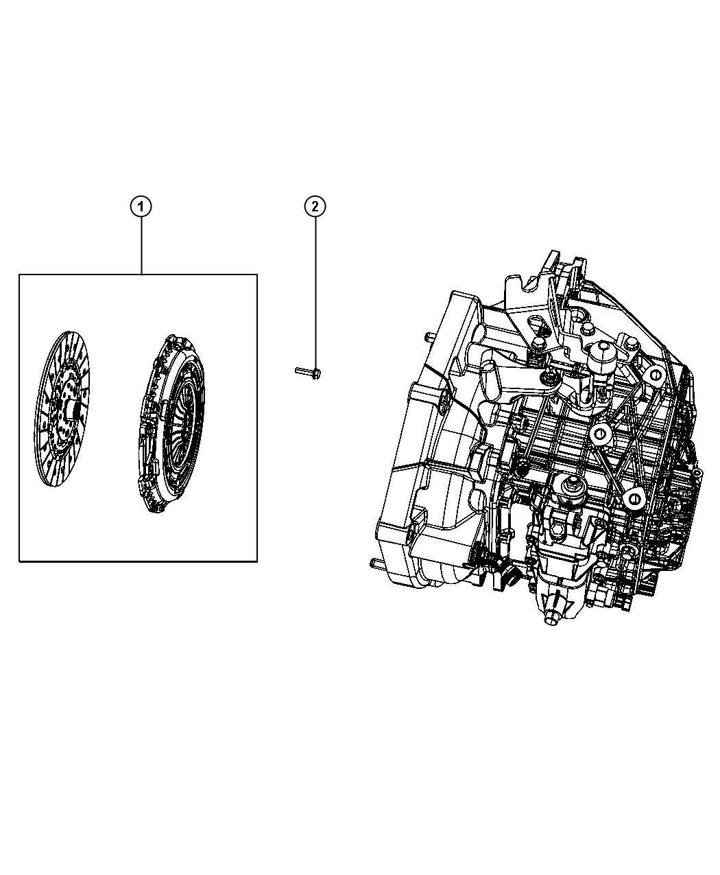 Dodge Dart Se Clutch Kit Used For Pressure Plate