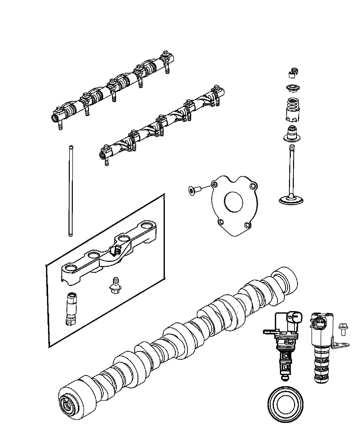 Dodge Ram Camshaft Engine Valvetrain System