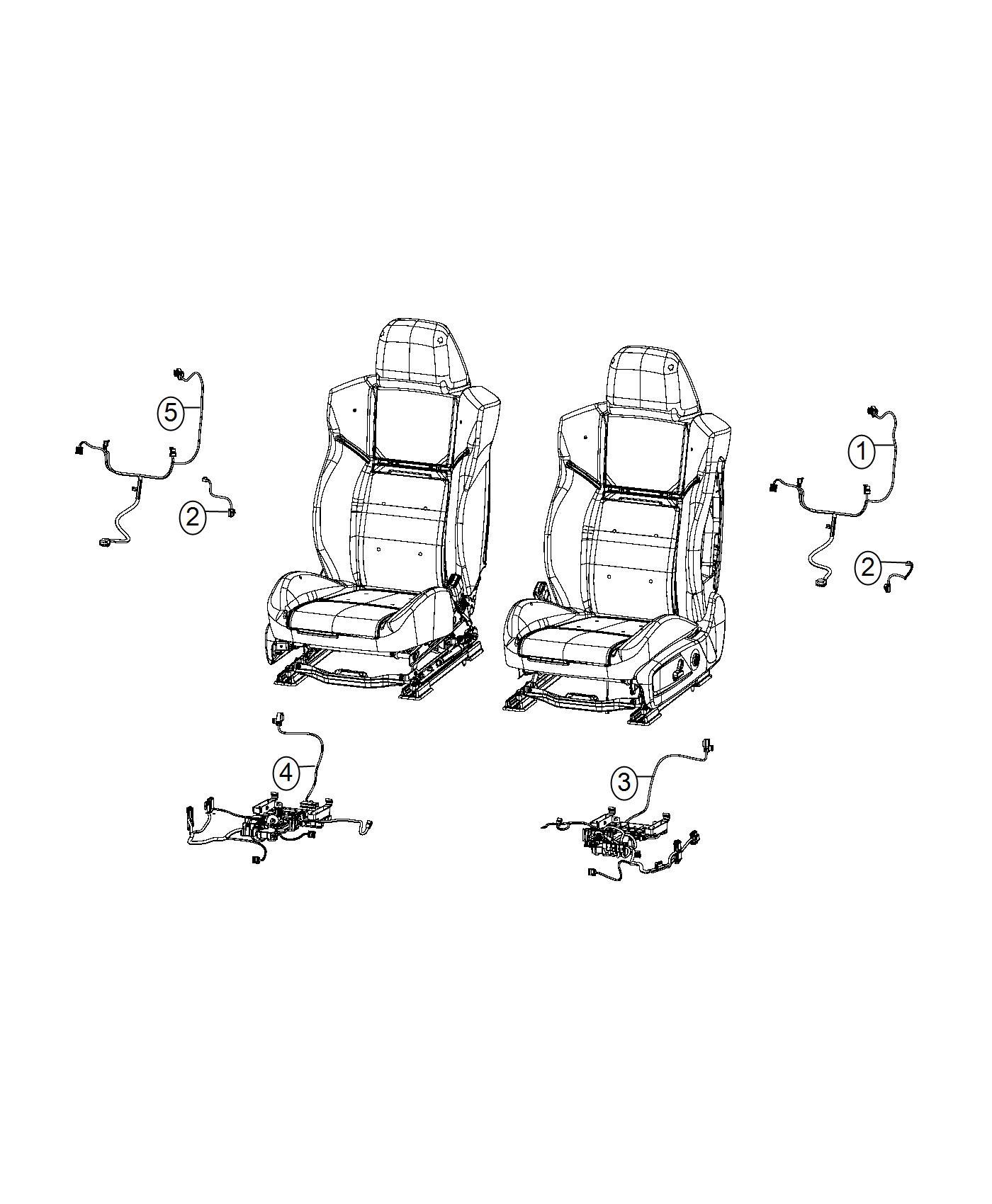 Dodge Charger Wiring Seat Cushion Passenger Trim