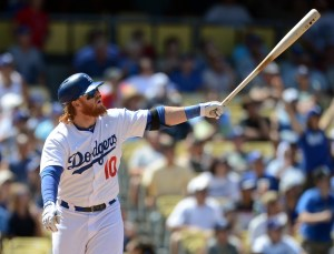 Justin Turner will look to have a big series against his former club in the NLDS. Photo courtesy of www.lasportshub.com
