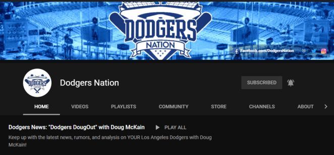 Dodgers YouTube