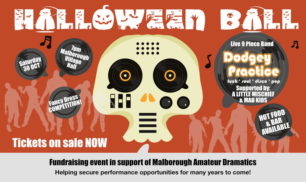Dodgey MAD Halloween Ball Poster