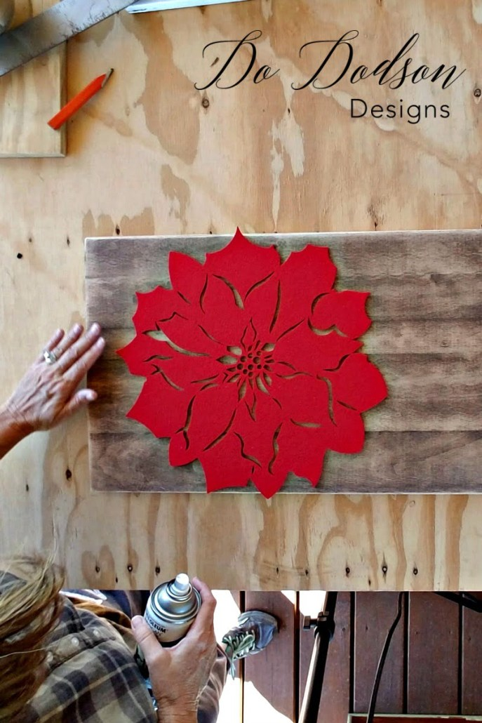 How to Make Country Crafts Christmas Decor Stencil Hack #countrycrafts