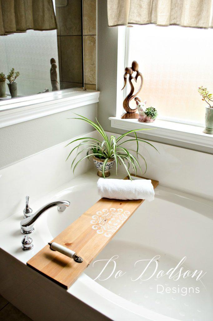diy wooden bath caddy Archives - Do Dodson Designs