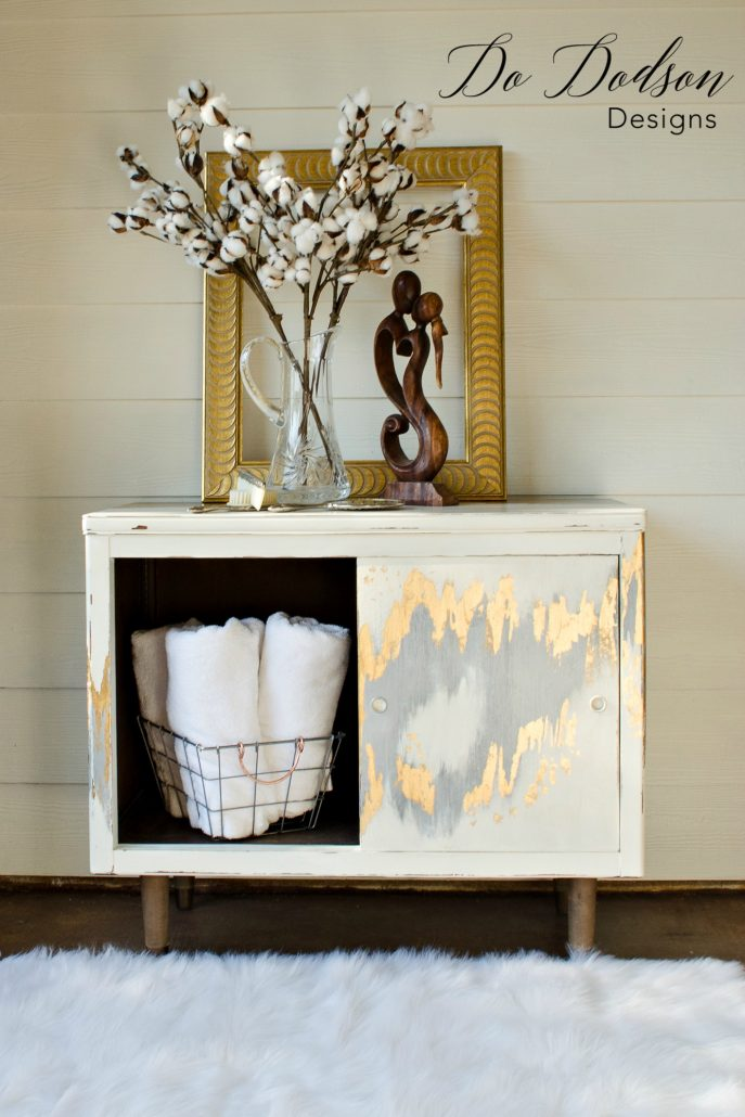 Gold leaf furniture that will make you swoon! Stunning Furniture Creations #furniturecreations #goldleaf