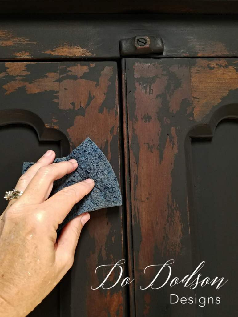 Primitive Furniture Makeover with Wise Owl Chalk Synthesis Paint