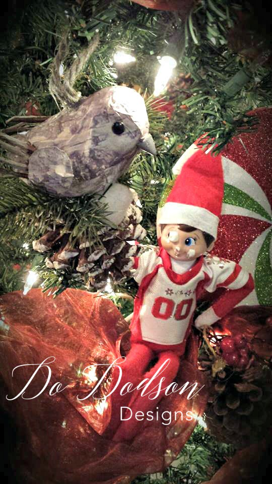 Elf on the shelf mischievious ideas that a bird in the hand is messy, but a bird in the tree is dangerous.