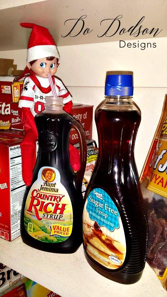 Elf on the shelf mischievious ideas getting a sugar rush.