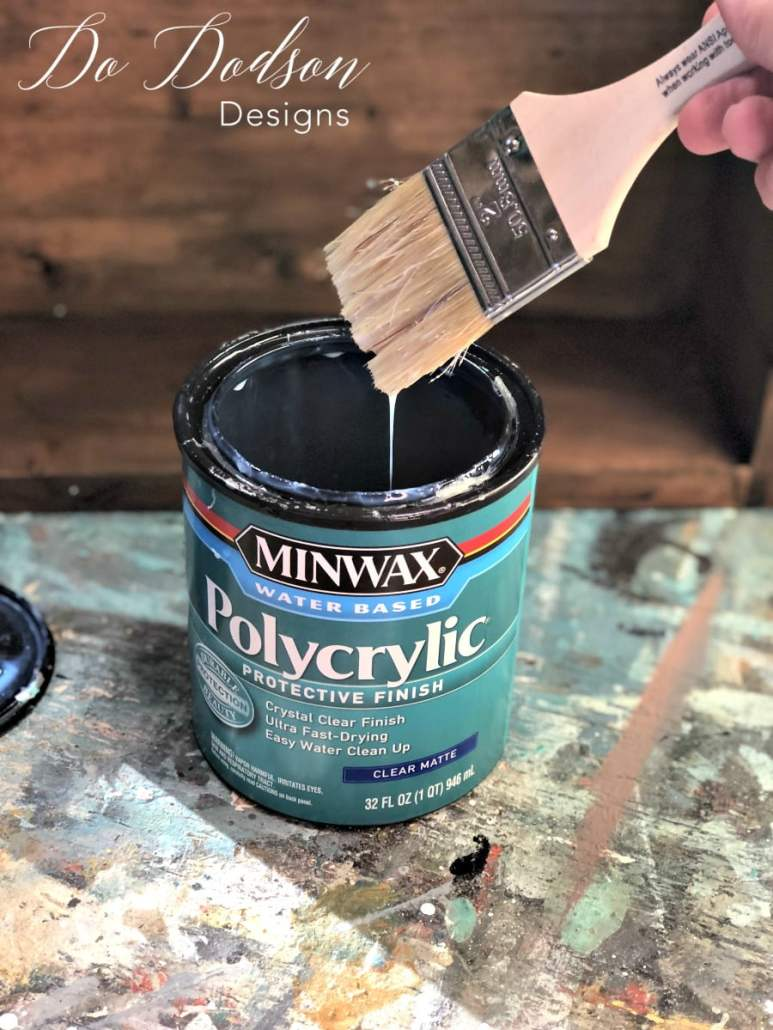 I use Minwax polycrylic over water based stains to seal my decorative shelves.