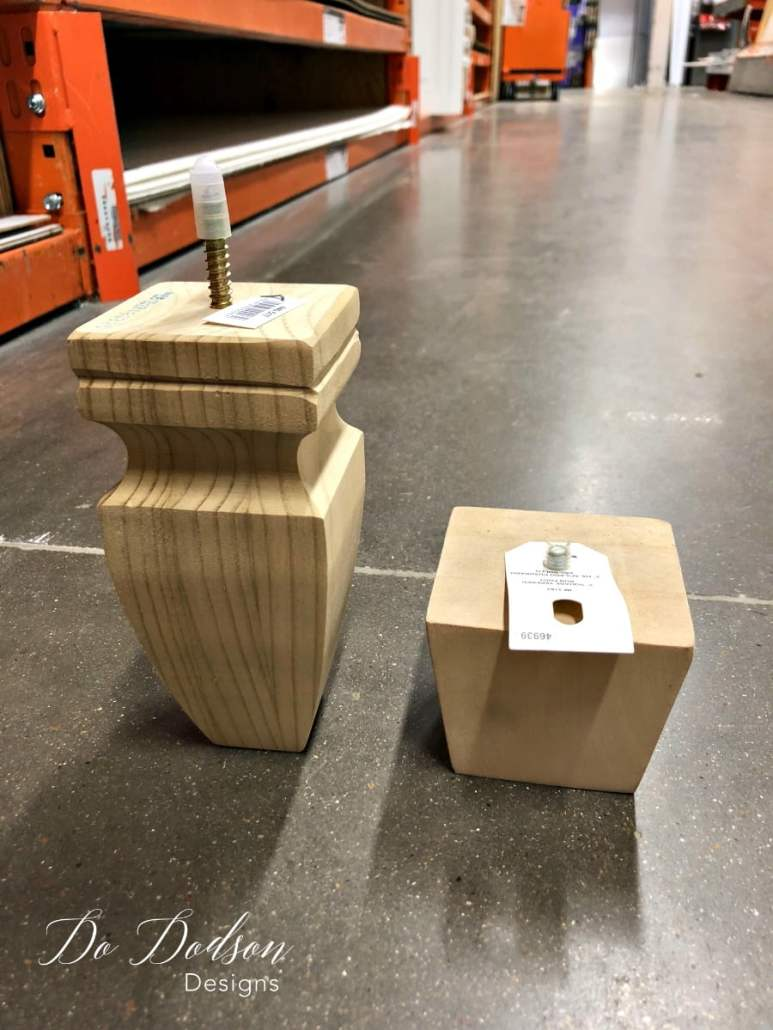 How I Made Furniture Feet With Wood Finials Do Dodson Designs