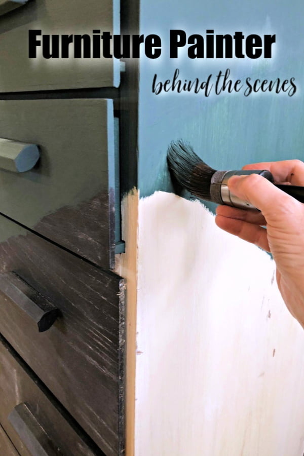 Behind the scenes I secretly wanted to burn it! Secrets of a furniture painter.
