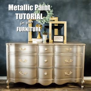 Metallic Paint For Furniture Tutorial