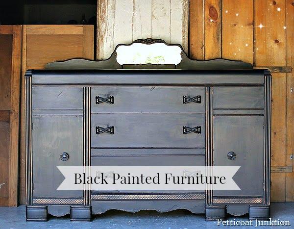 Distressed Black Furniture