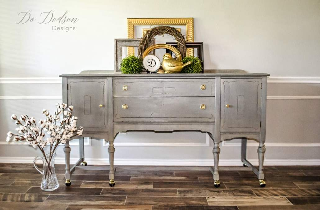 Eye Catching Grey Sideboard That Will Change Your Mind About Paint