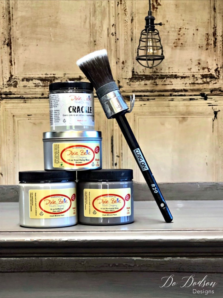 Eye Catching Grey Sideboard That Will Change Your Mind About Paint #dixiebellepaint #crackle #mineralpaint #wax #clingon