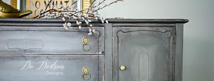Eye Catching Grey Sideboard That Will Change Your Mind About Paint #dododsondesigns #greysideboard