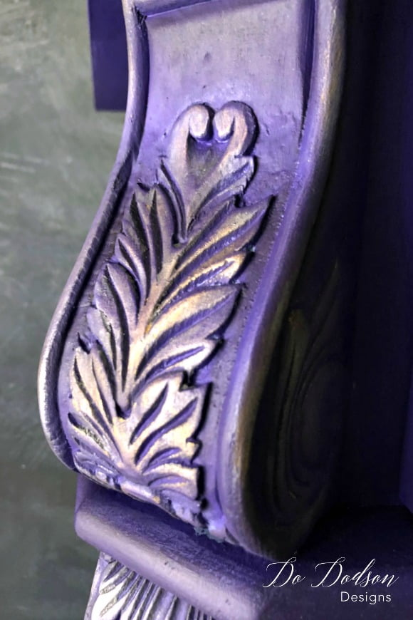 Adding gilding wax over bright colors is a great way to accent the details.